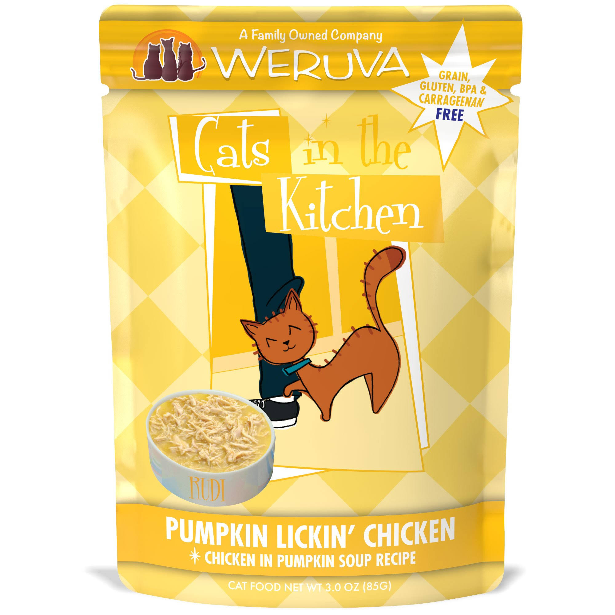 Weruva Cats In The Kitchen Cat Food - Pumpkin Lickin Chicken, 3oz