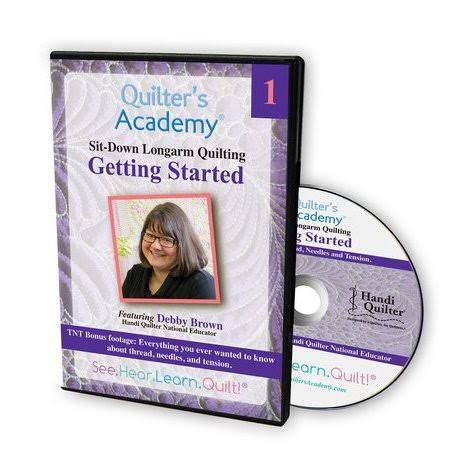 Quilter's Academy Sitdown Longarm Quilting Using Rulers and Templates DVD