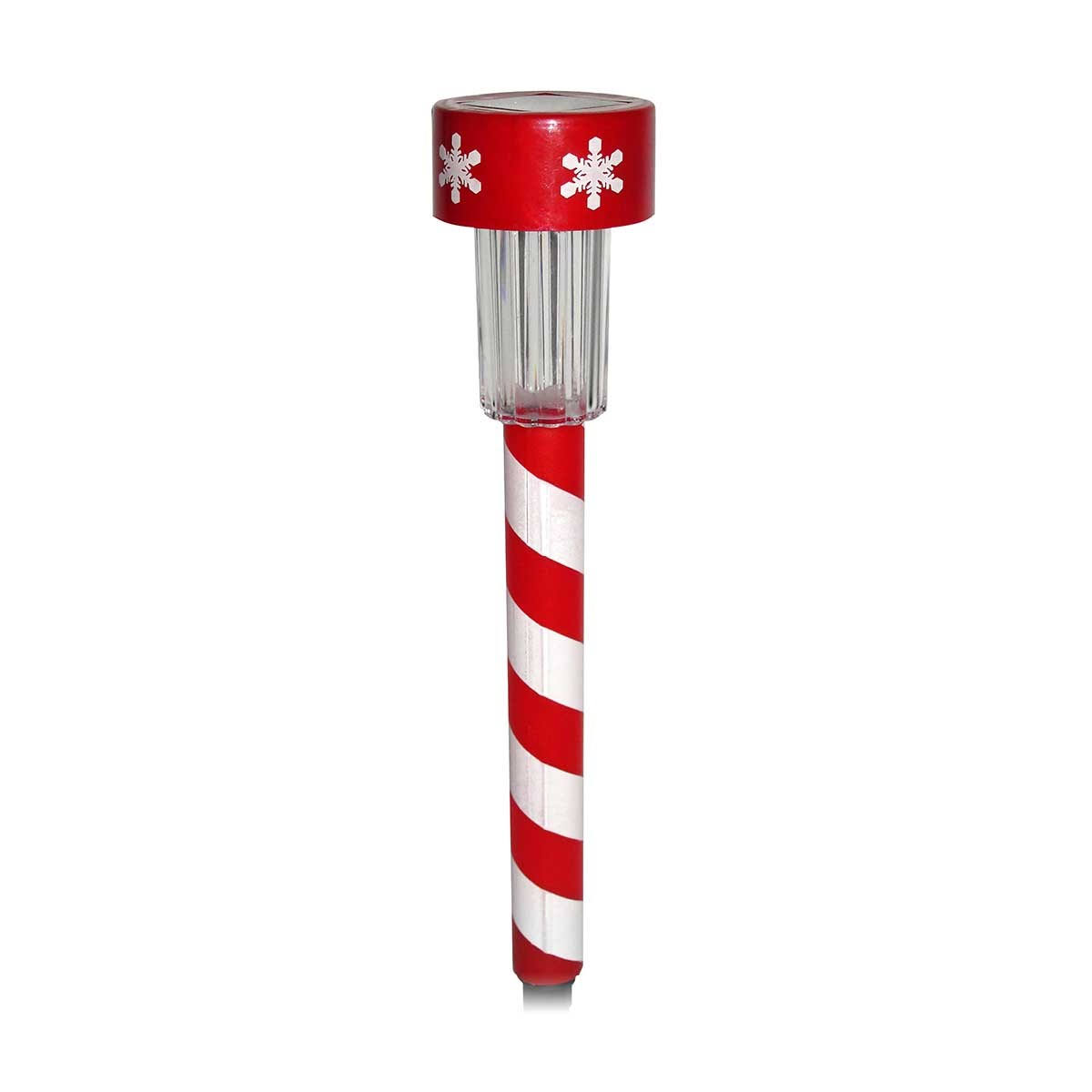 Alpine Solar Mini Candy Cane Garden Stakes with LED