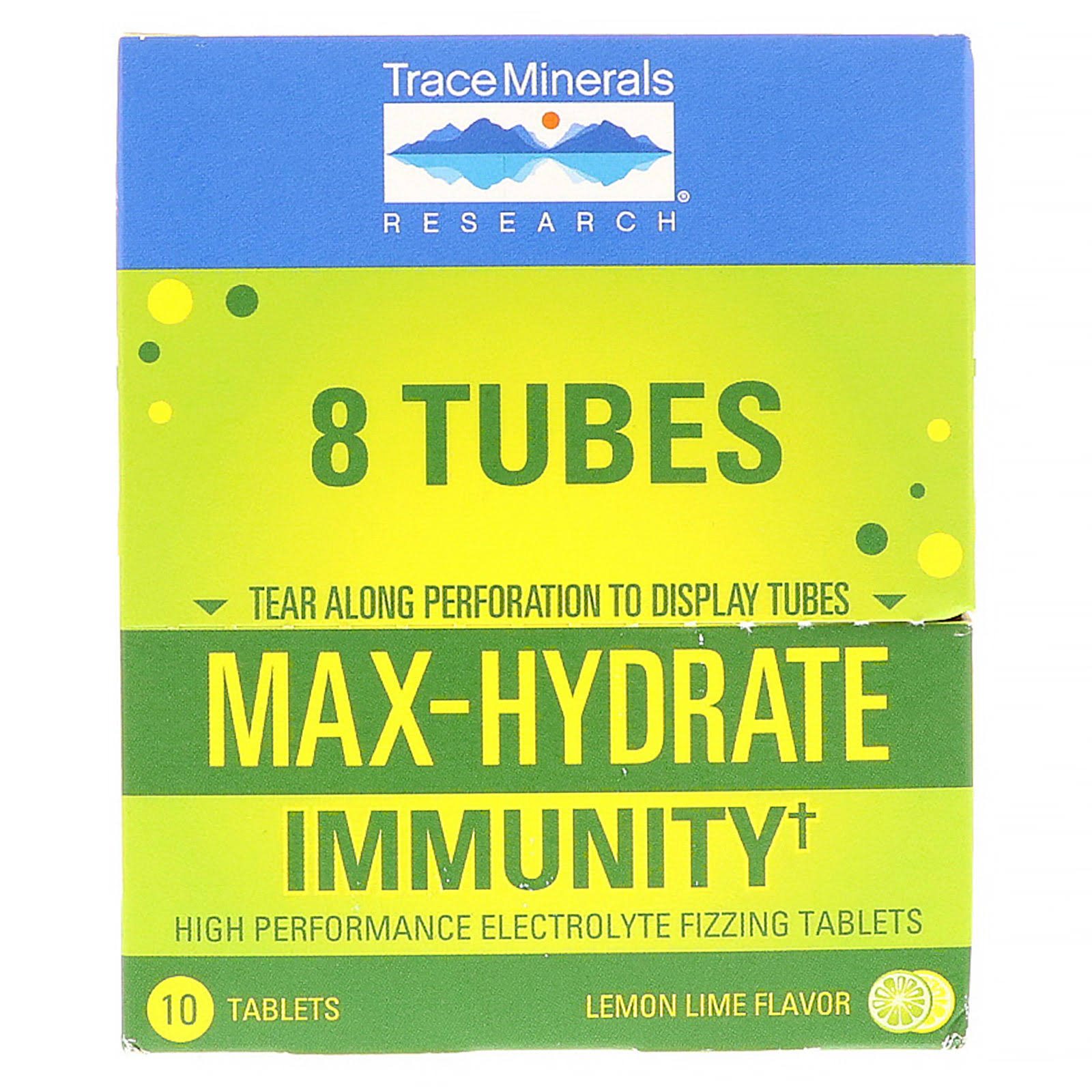 Trace Minerals Research Max-Hydrate Immunity 8 Tubes