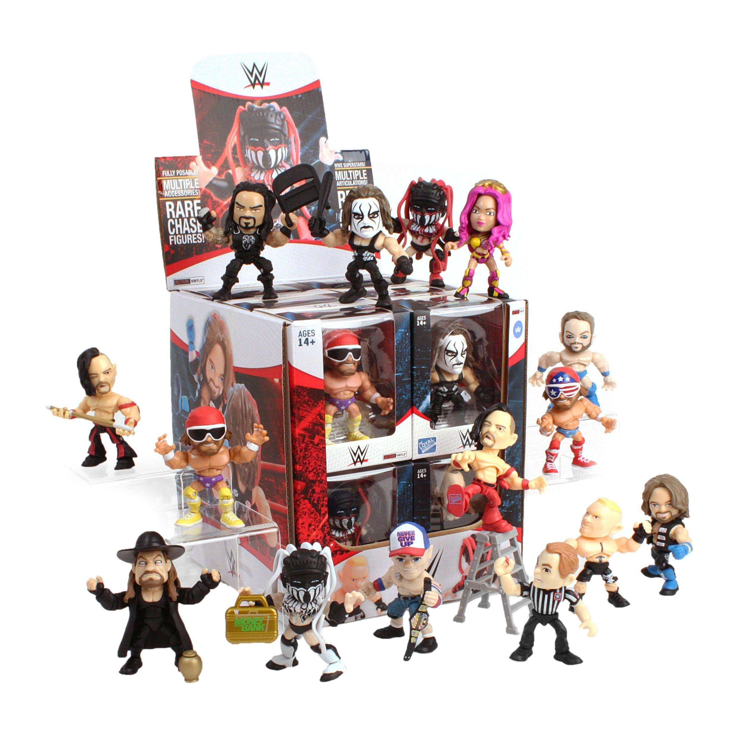 WWE Wave 1 Action Vinyls Mini Figures - 8cm, 12ct