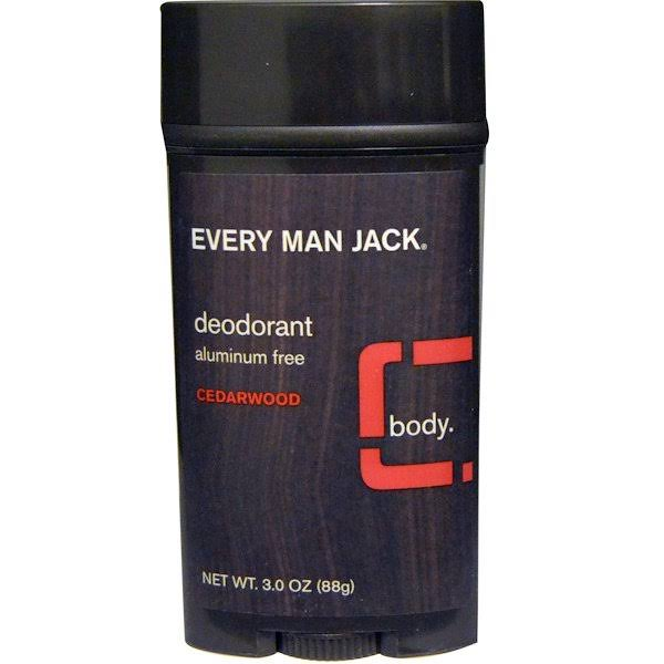Every Man Jack Deodorant - Cedarwood, 3.0oz