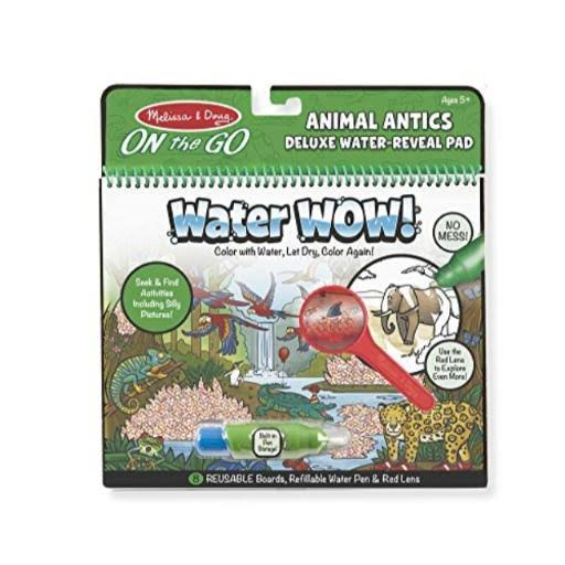 Melissa & Doug - Water Wow! Animal Antics Deluxe Water Reveal Pad