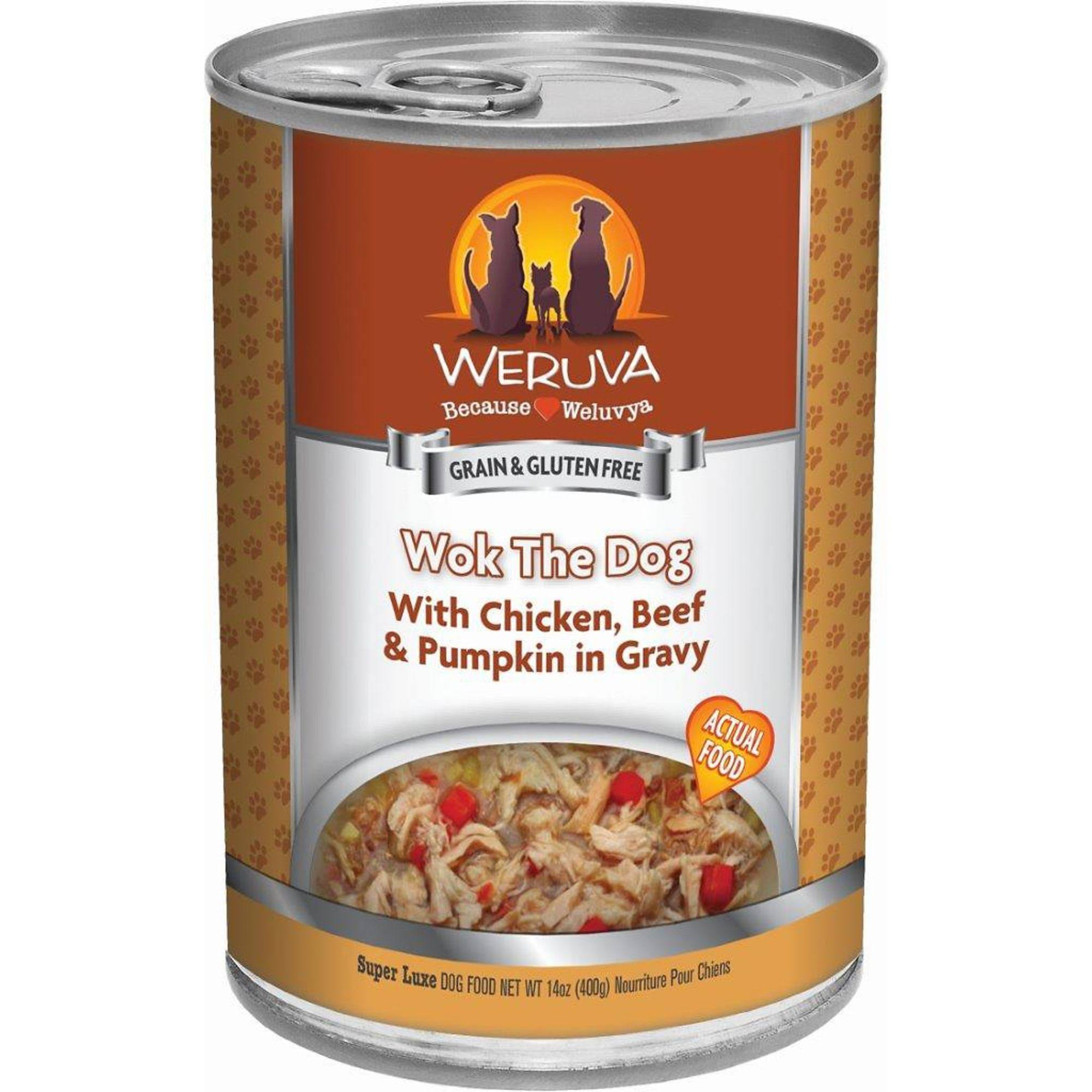 Weruva Grain Free Canned Dog Food - Wok the Dog, 14oz