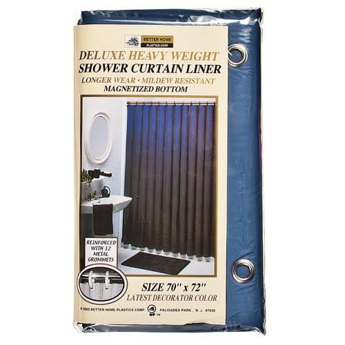 "Better Home Heavy Weight Shower Curtain Liner - Navy, 70""x72"""
