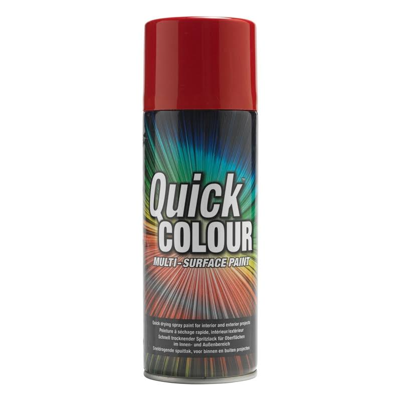 Quick Colour Spray Paint Gloss Red 400ml (2162V)