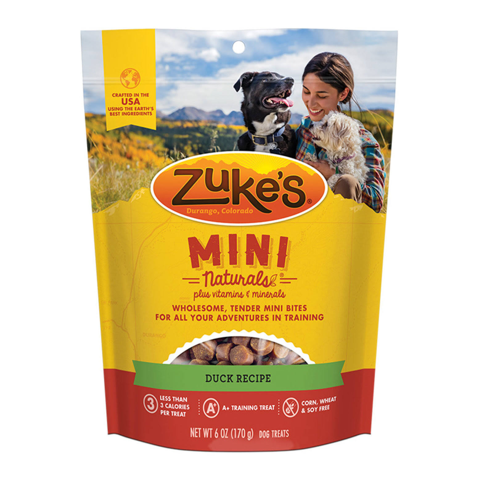 Zukes Mini Naturals Dog Treats - Delicious Duck Recipe, 170g