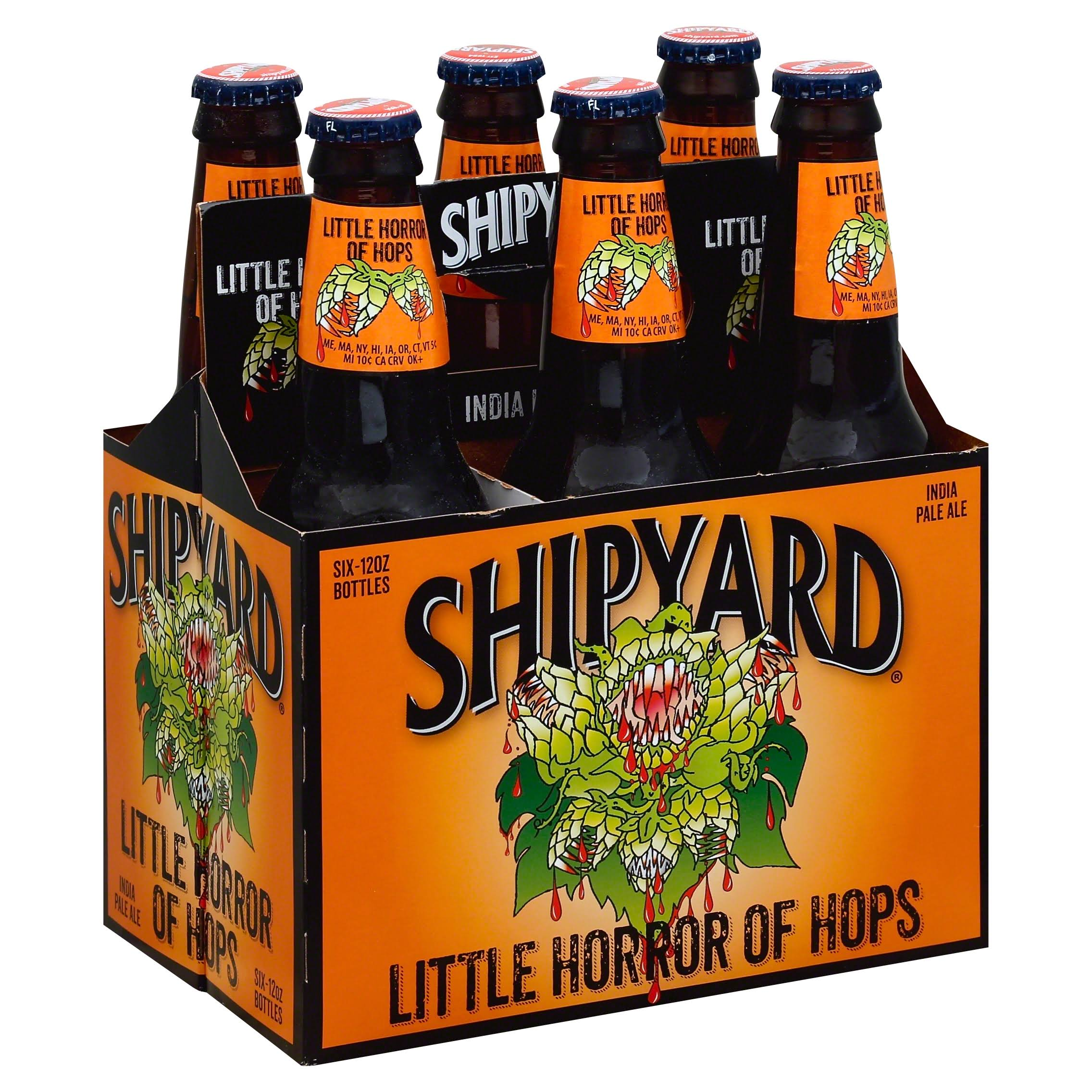 Shipyard Little Horror Of Hops India Pale Ale - 12oz, 6 Bottles