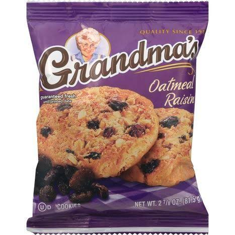 Grandmas Cookies, Oatmeal Raisin - 2.875 oz