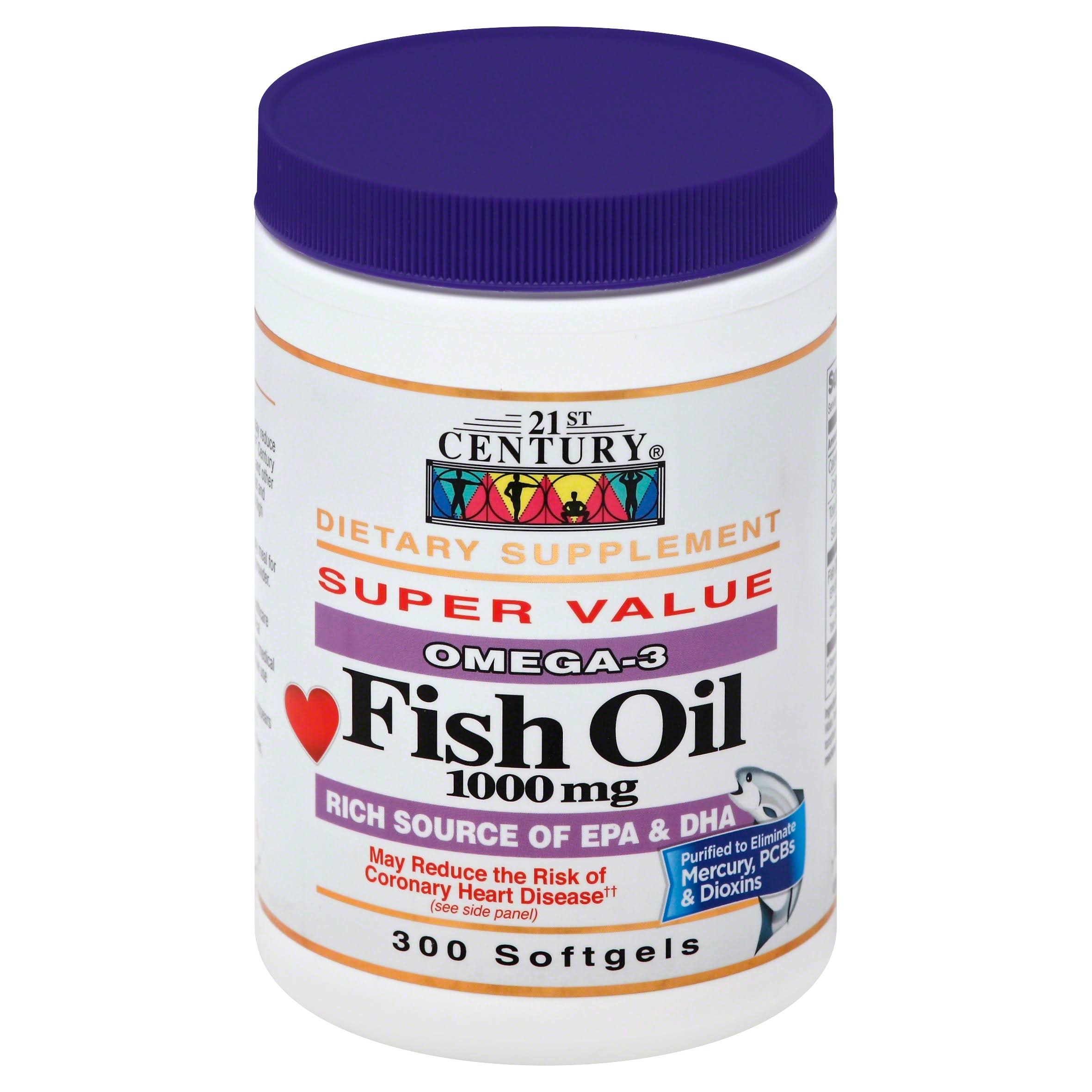 21st Century Fish Oil 1000mg Softgels - x300