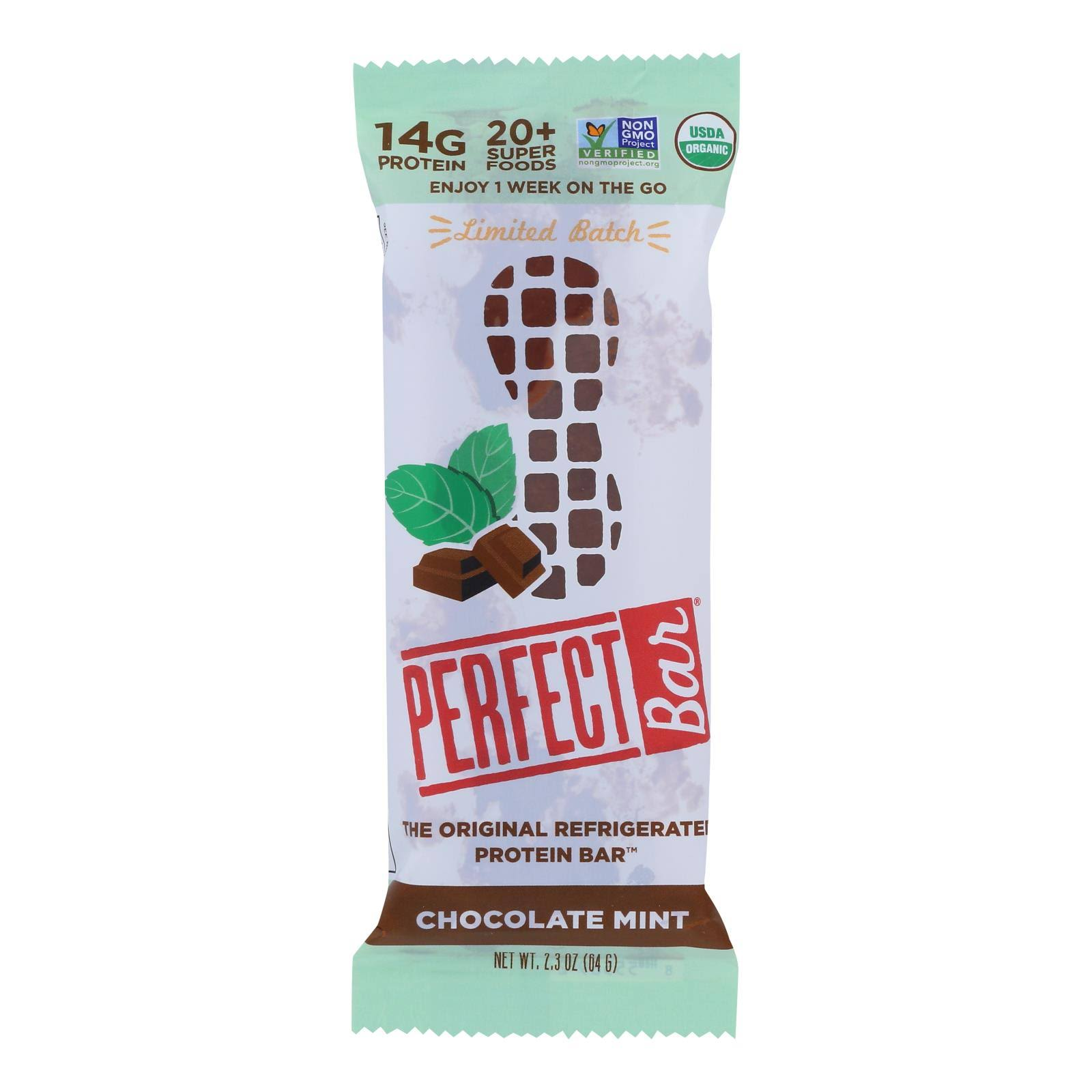 Perfect Bar - Bar Chocolate Mint - Case of 8 - 2.3 oz