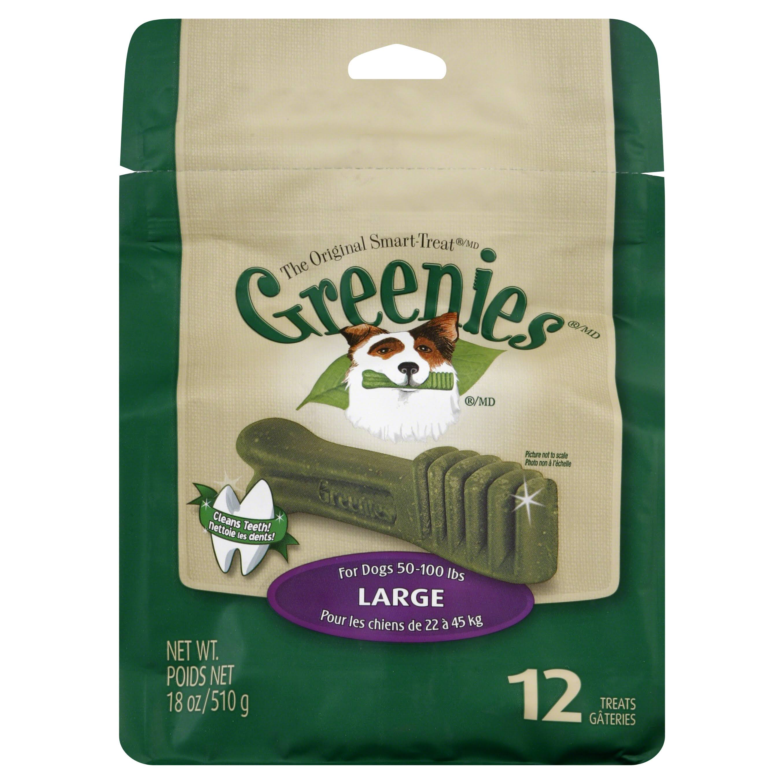 Greenies Dental Dog Treats - Large, Original Flavor, x12
