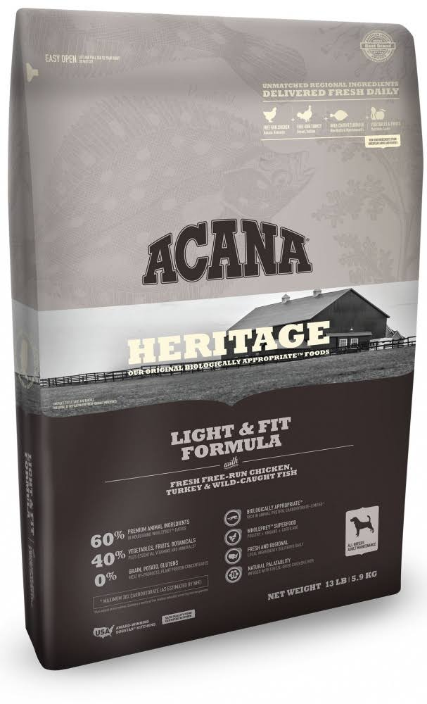 ACANA Heritage Light & Fit Formula Dry Dog Food 4.5-lb