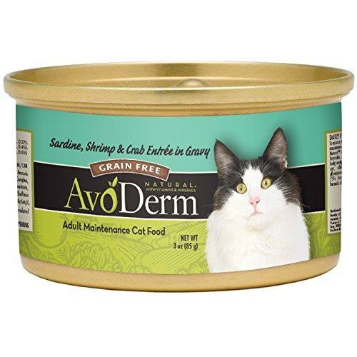 AvoDerm Natural Sardine Shrimp and Crab Meat Canned Cat Food