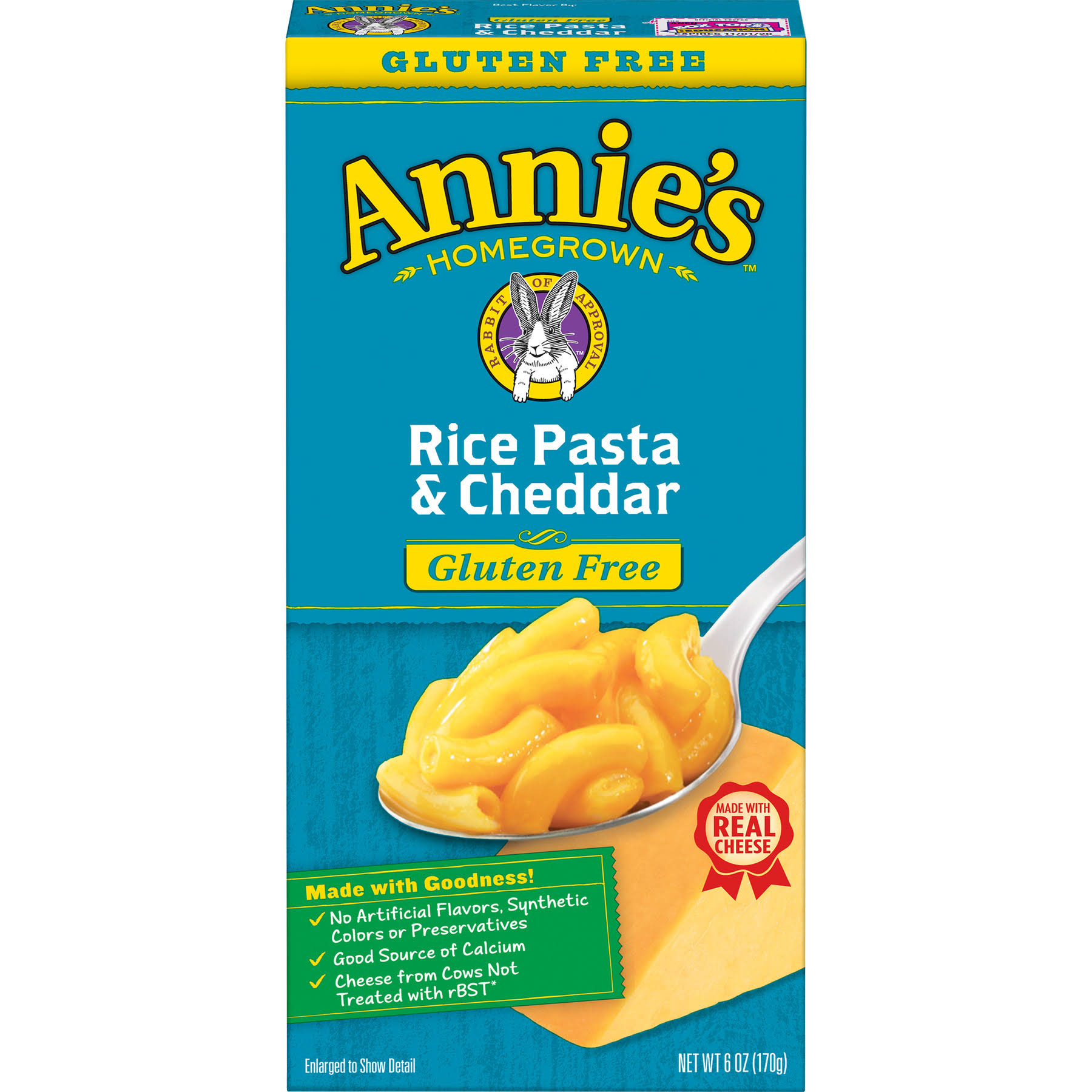 Annie's Homegrown Rice Pasta & Cheddar Macaroni Cheese - 6oz