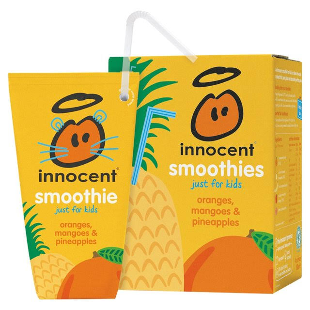 Innocent Kids Smoothie - Oranges, Mango and Pineapple, 180ml, 4ct