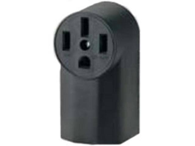 Eaton WD1212 50-Amp 3-Pole 4-Wire 125-Volt Surface Mount Range Power Receptacle - Black