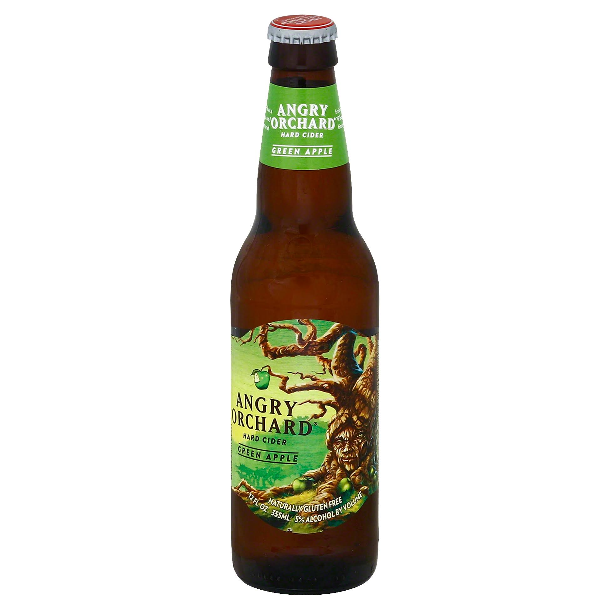 Angry Orchard Hard Cider, Green Apple - 12 fl oz