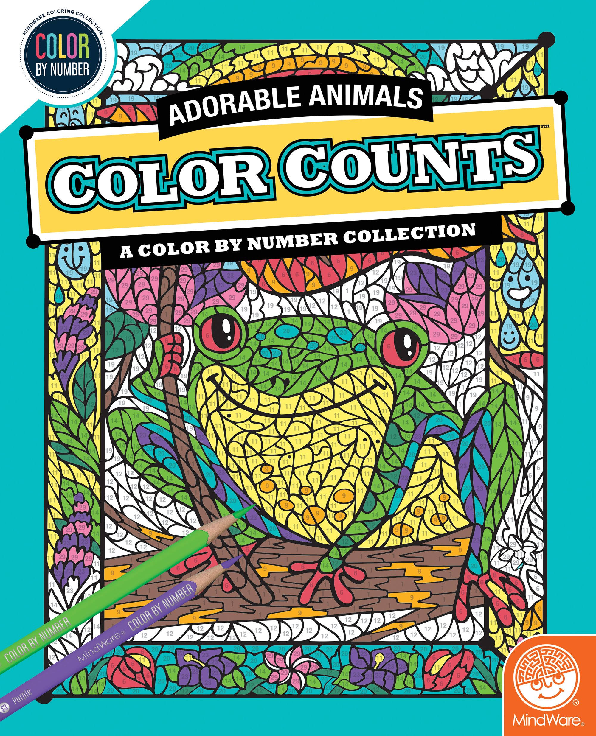 MindWare Color Counts: Adorable Animals Color by Number