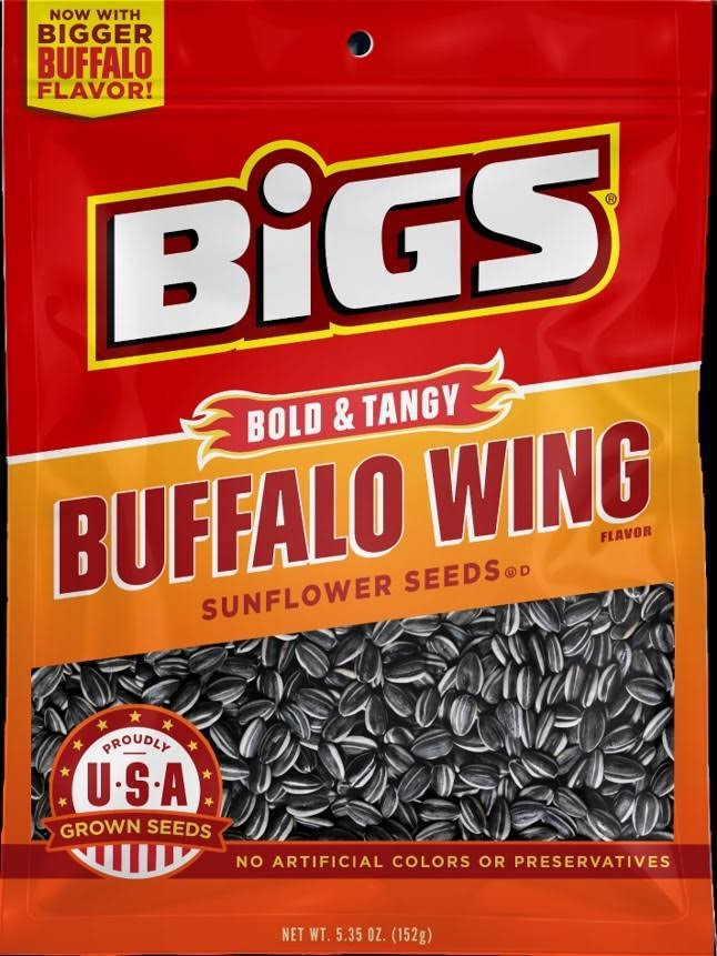 Bigs Sunflower Seeds - Redhot Buffalo Wing, 152g