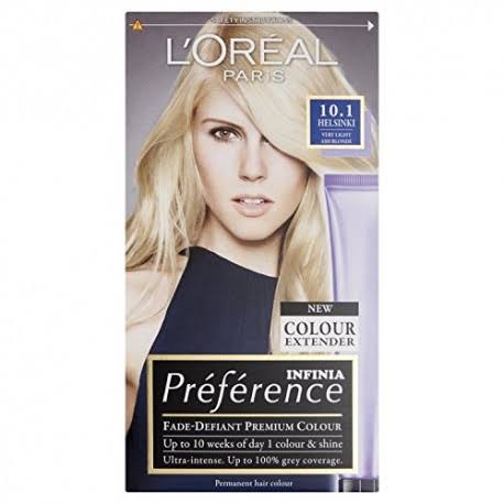 L'oreal Preference Permanent Hair Dye - 10.1 Helsinki Very Very Light Ash Blonde