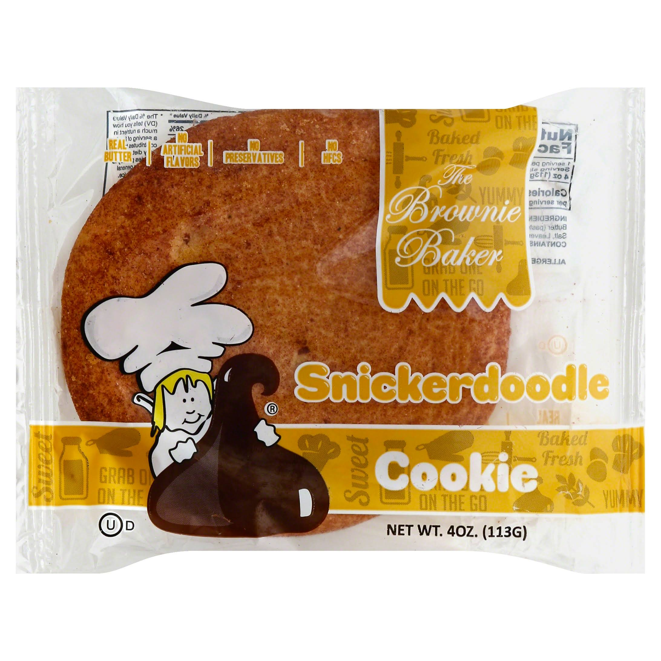 Brownie Baker Cookie, Snickerdoodle - 4 oz