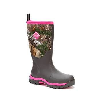 Muck Women's Woody Max Waterproof Hunting Boots - Realtree Xtra/Pink, Size 10