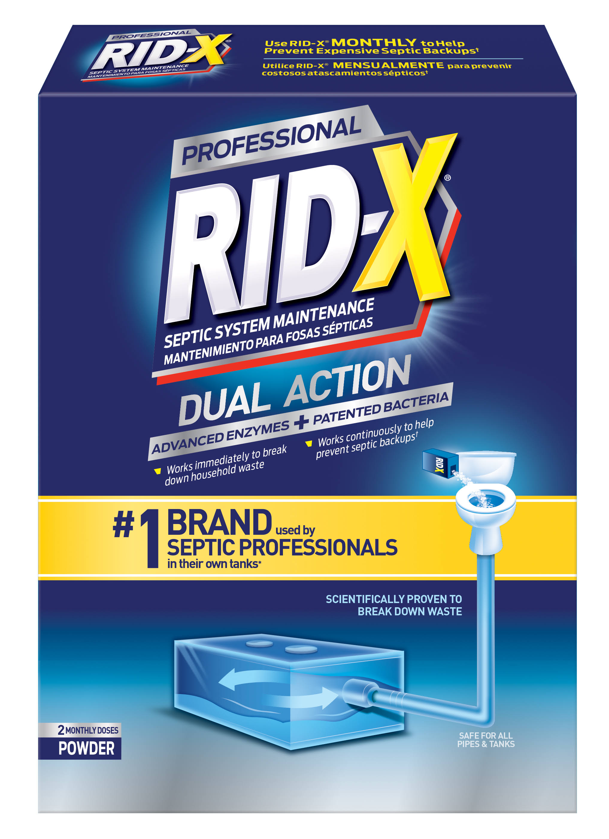 Rid X Septic System Treatment Powder - 19.6oz