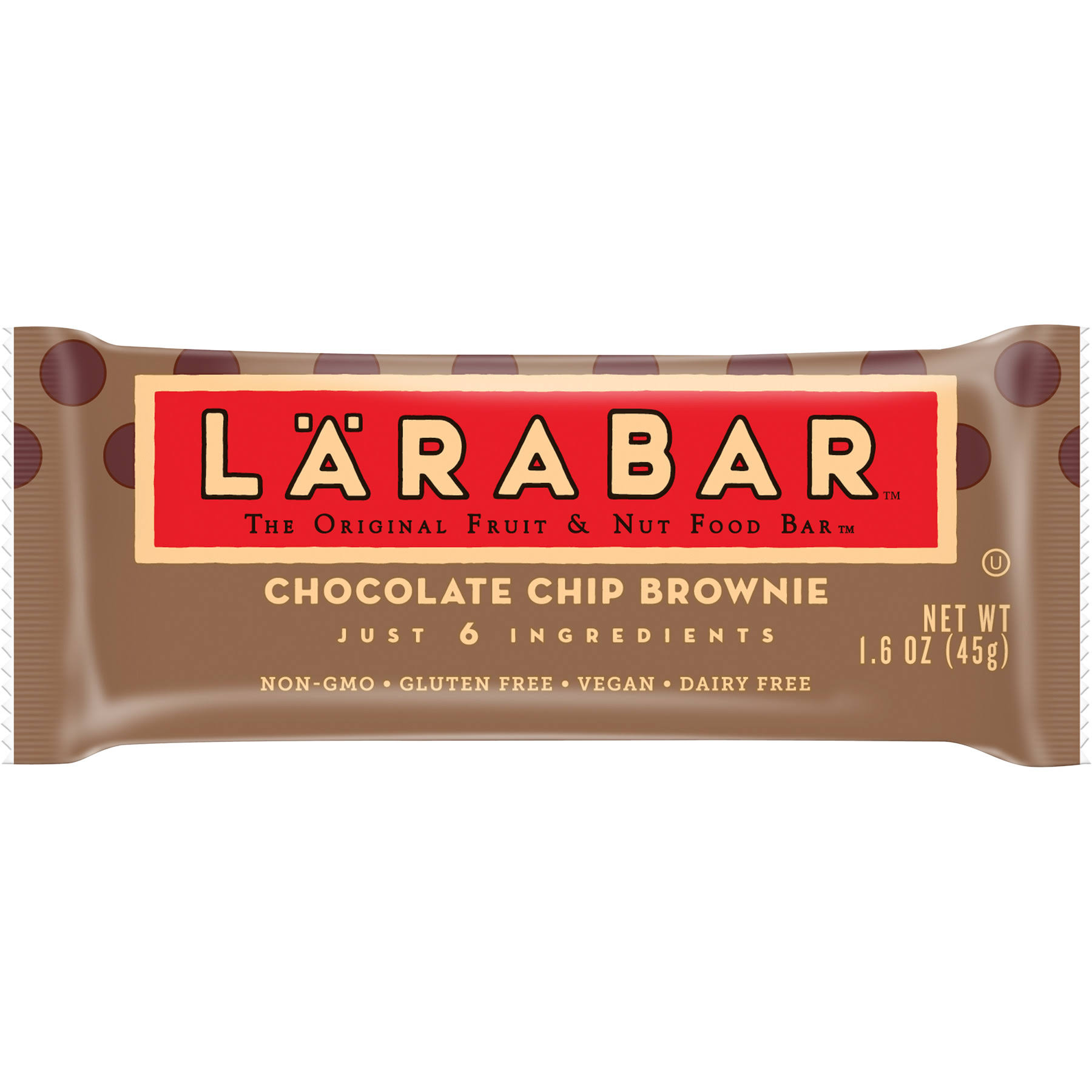 Larabar Fruit & Nut Food Bar, Chocolate Chip Brownie - 1.6 oz packet