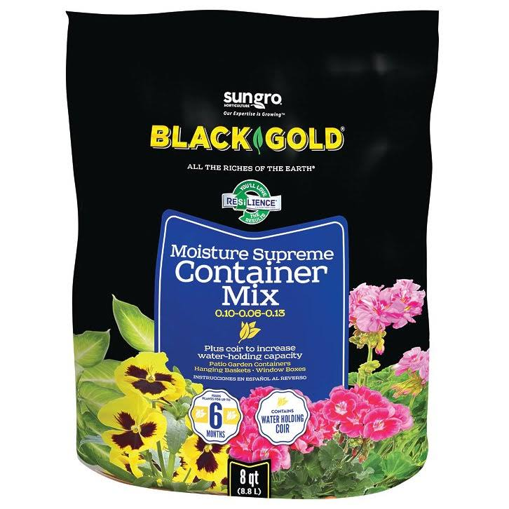 Black Gold Moisture Supreme Potting Mix - 8qt