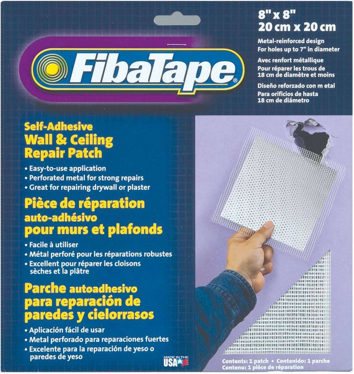 "FibaTape Self Adhesive Perforated Aluminum Wall and Ceiling Repair Patch - 8"" x 8"""