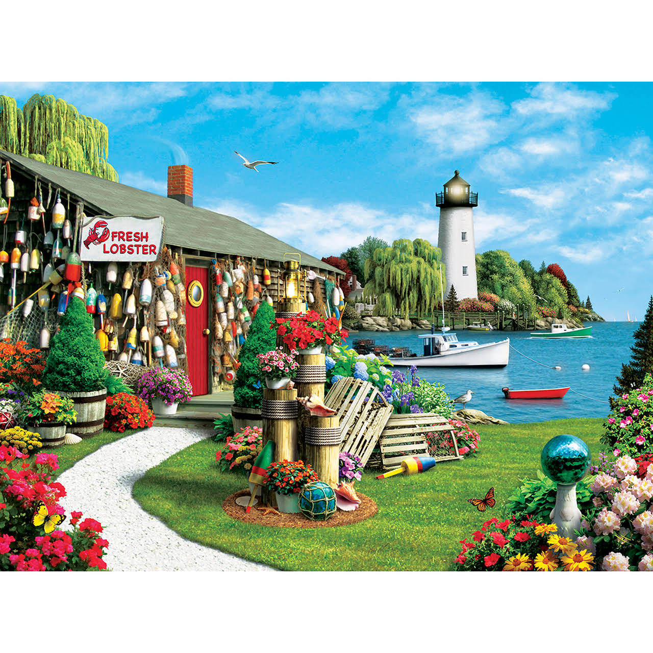 MasterPieces Memory Lane Lobster Bay EZ Grip Jigsaw Puzzle - 300pcs