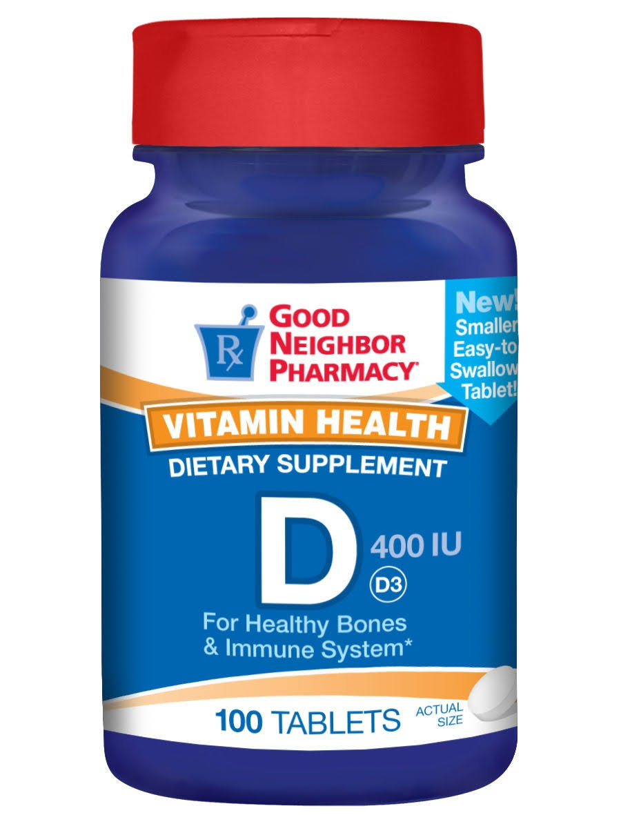 GNP Vitamin D3 400 IU Supplement 100 Tablets