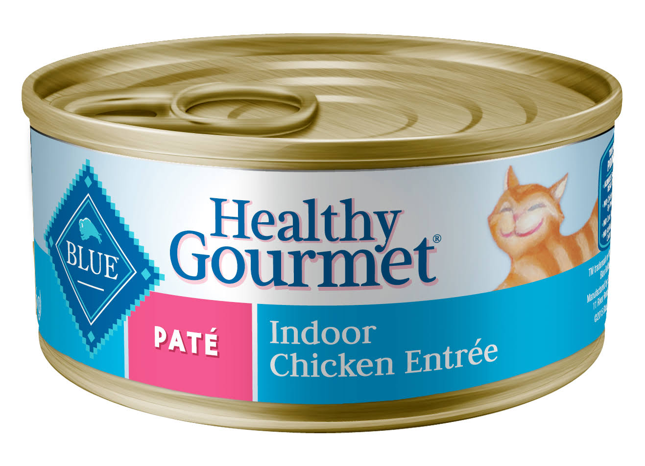 Blue Buffalo Healthy Gourmet Pate Adult Canned Cat Food - Indoor Chicken Entree, 5.5oz