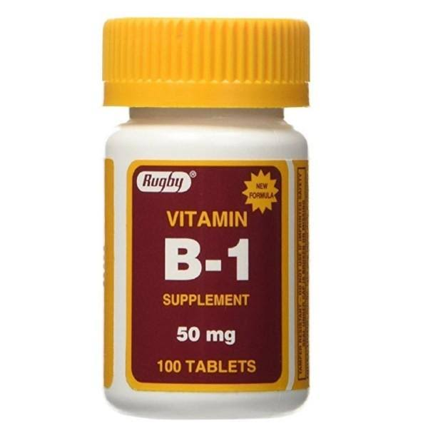 Rugby Vitamin B-1 Supplement - 50mg, 100 Tablets