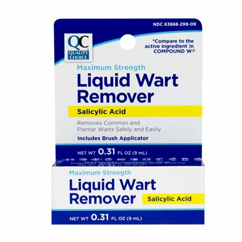 Quality Choice Wart Remover Liquid 0.31 Ounces Each