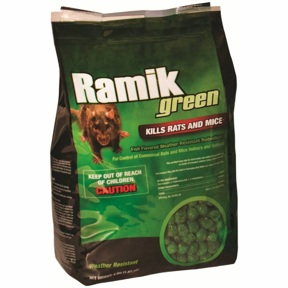 Neogen Rodenticide Ramik Mouse and Rat Nuggets Bait - 4lbs, Green