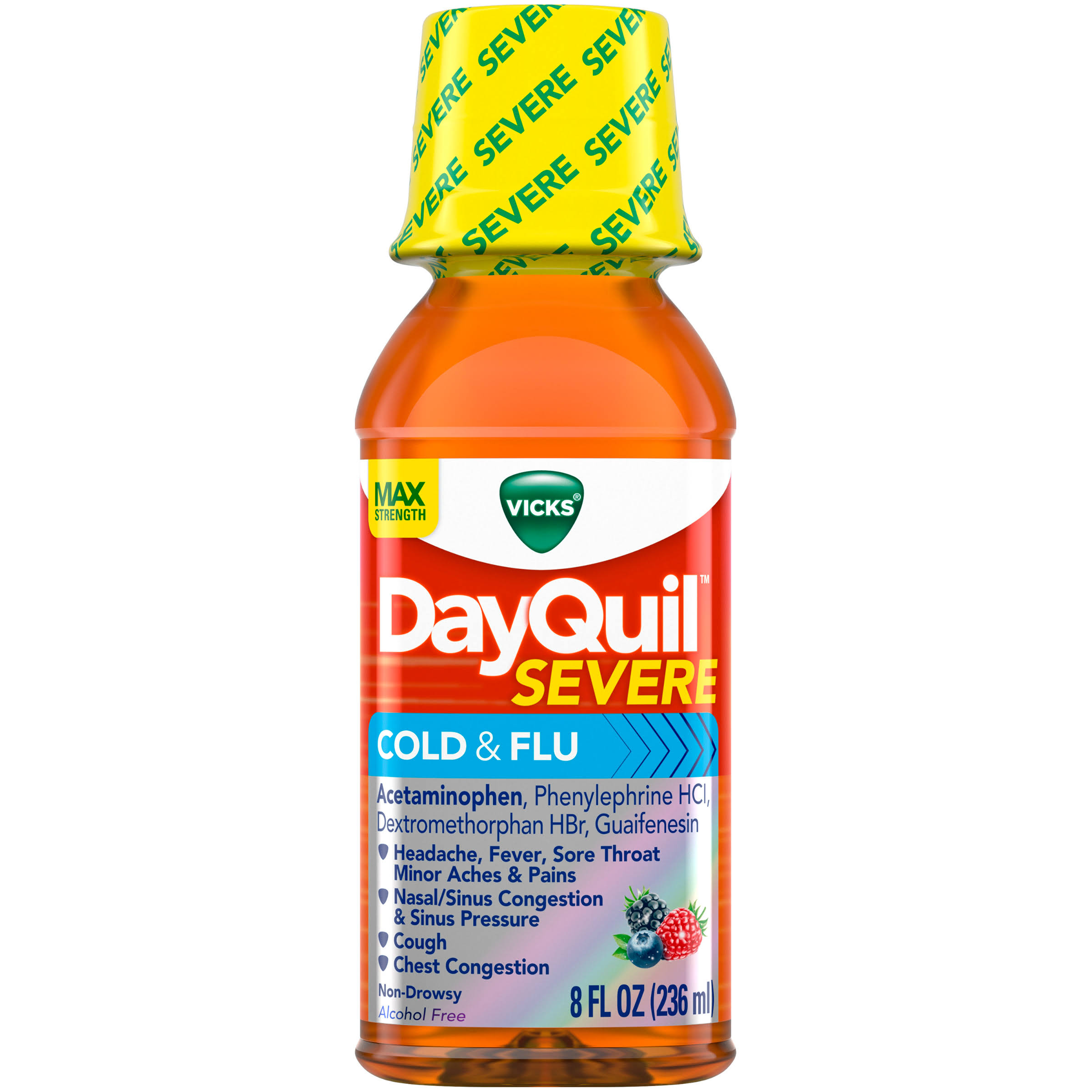 Vicks Dayquil Severe Cold and Flu Relief Liquid - 240ml