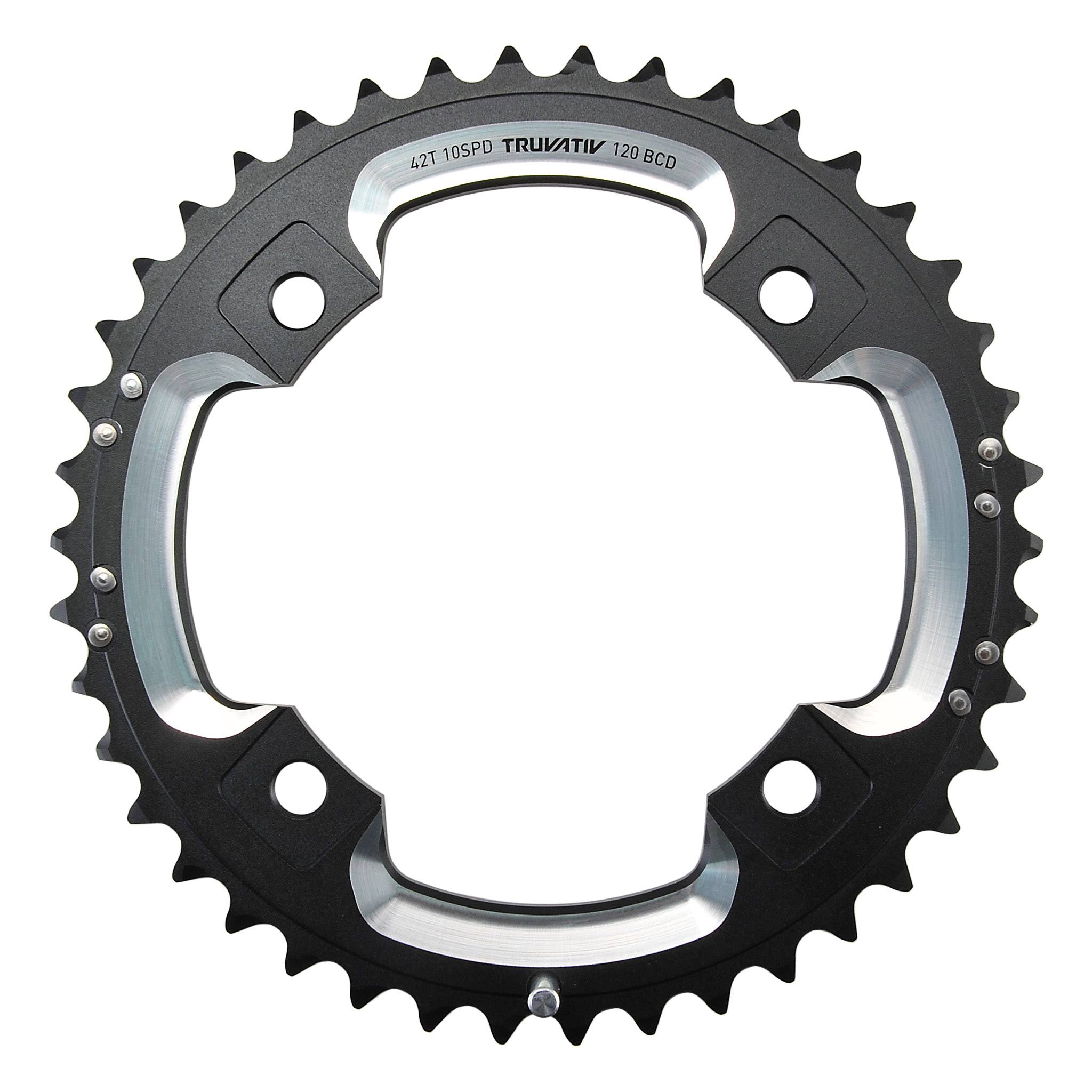 Sram Truvativ Bike Chainring - Black, 120BCD X 42T