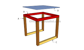glass end table plans howtospecialist how to build step by