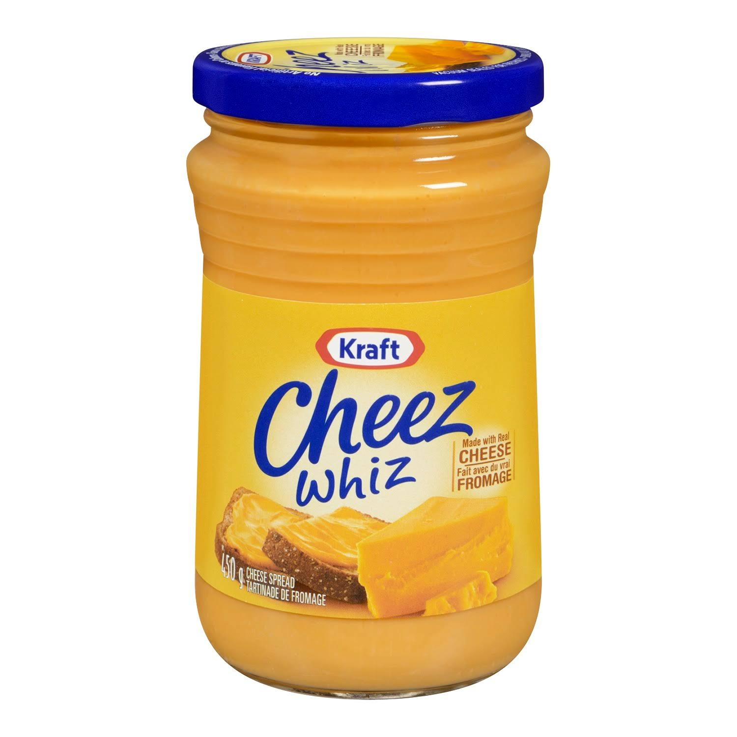 Kraft Cheez Whiz 450 Grams Each Made with Real Cheese - Imported from