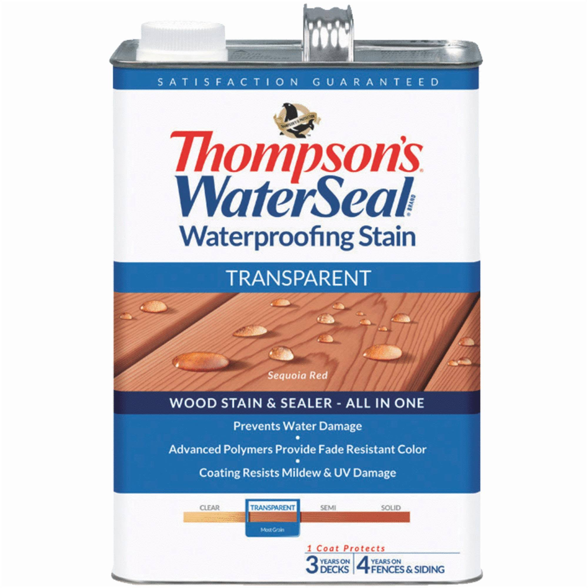 Thompson's Waterseal Waterproofing Stain - Transparent, 1gal
