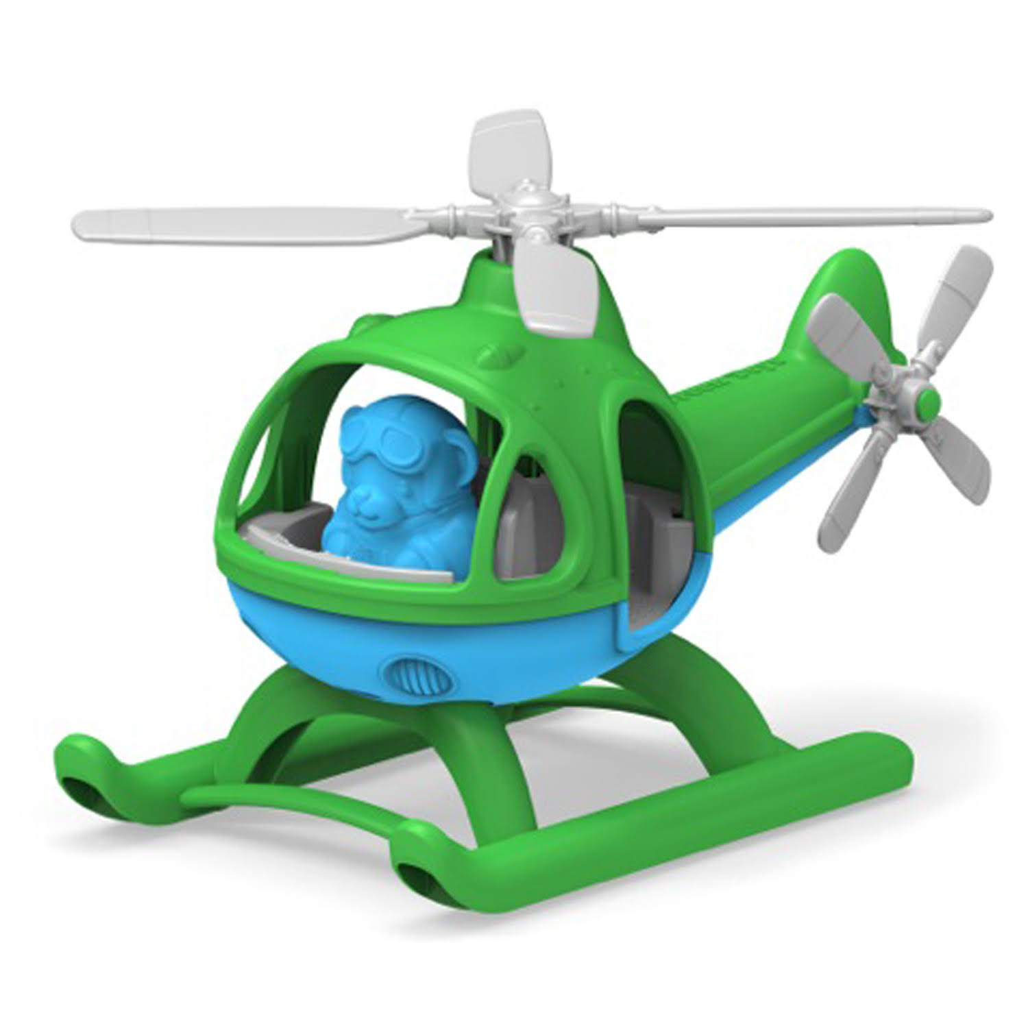 Green Toys Helicopter Toy - Green and Blue