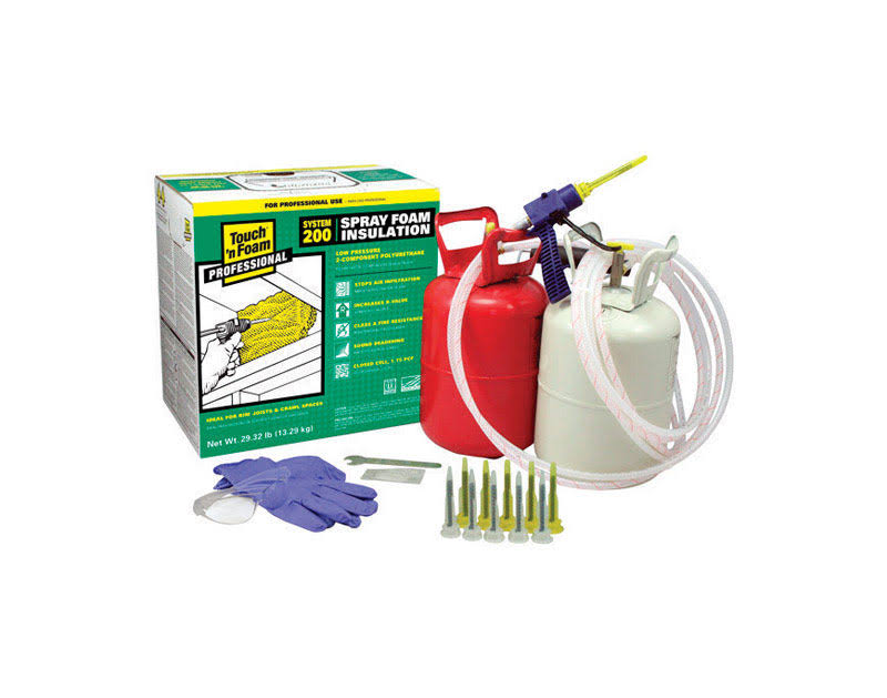 Touch 'N Foam 200 Board Foot Polyurethane 2-component Spray Foam Kit