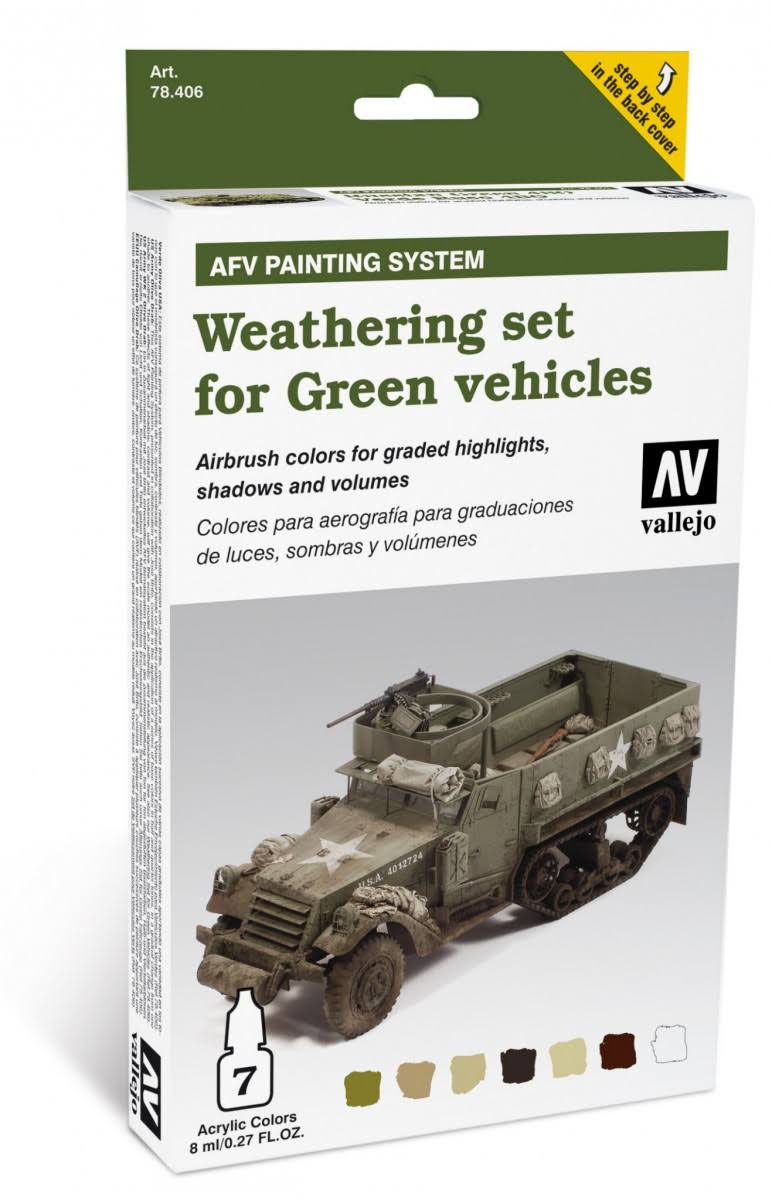 Vallejo AFV Weathering for Green Vehicles