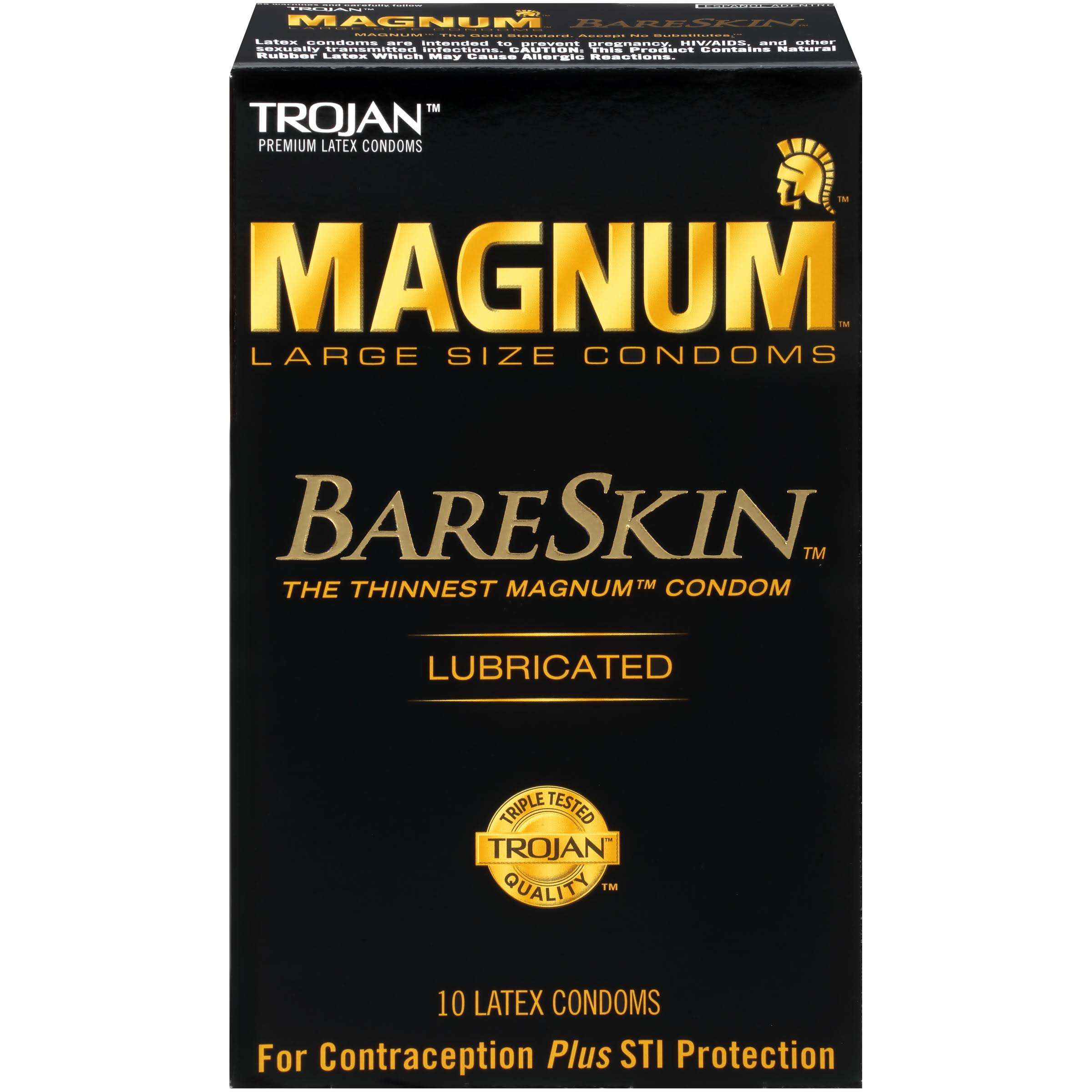 Trojan Magnum Bareskin Lubricated Condoms - 10 Count