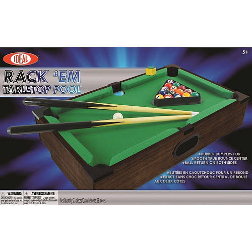 Alex Brands Ideal Rack'Em Tabletop Portable Pool Game