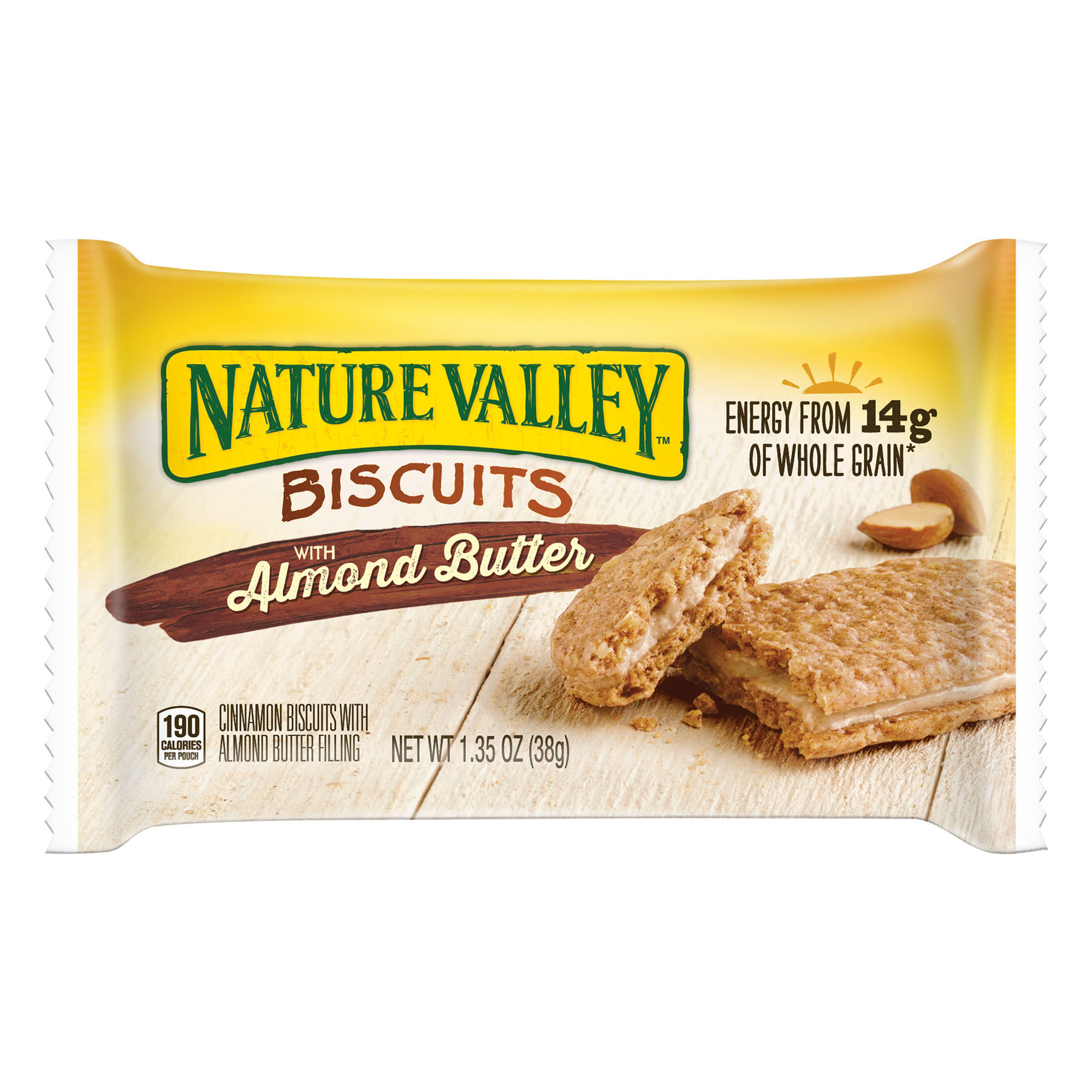 Nature Valley Biscuits - With Almond Butter, 1.35oz