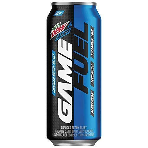 Mtn Dew Amp Game Fuel Sparkling Juice Beverage - Charged Berry Blast, 16oz