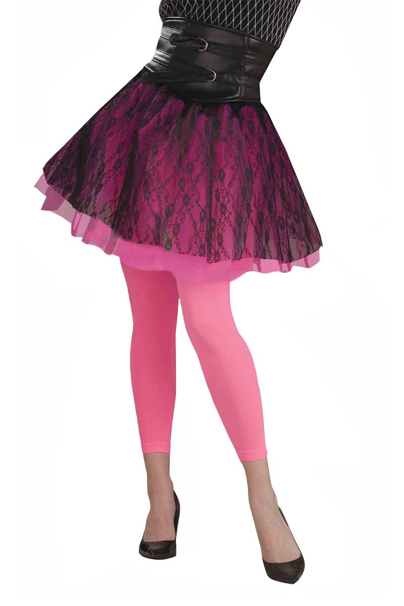 Forum Novelties Womens Novelty Footless Tights - Pink, One Size